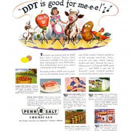 """Reklama na dnes už zakázaný postrek: """"DDT je pre mňa dobré!"""""""